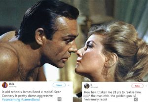 Les tweets accusateurs sur James Bond