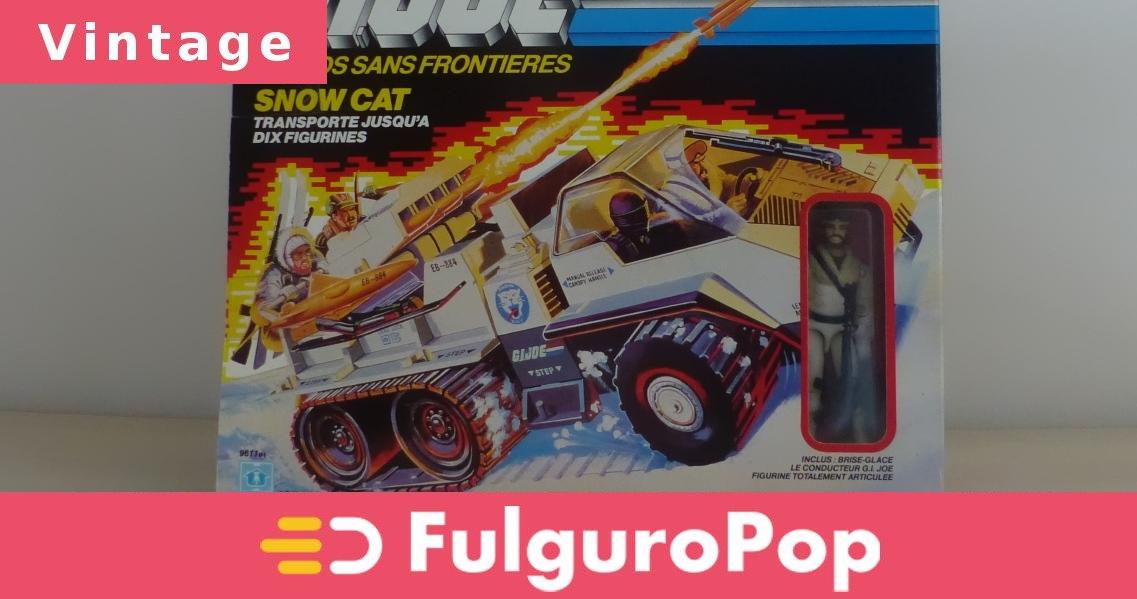 JOE-SNOW CAT lance-missiles tourelle-Original 1985 un vrai héros américain G.I