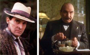 Holmes apiculteur et Poirot avec son chocolat chaud