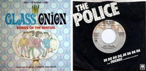 la compilation Glass onion et le quarante-cinq-tours avec Friends