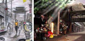 les marchés de Fangbang Road et de The city god case