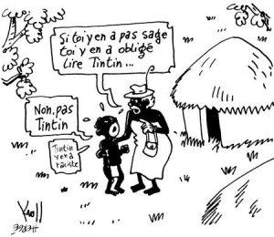 Une caricature sur le racisme de Tintin